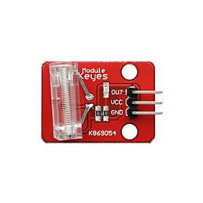 cheap Sensors-Knock Sensor (Red) Pin Headers