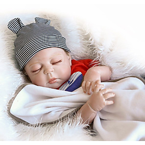 cheap Reborn Doll-OtardDolls 18 inch NPK DOLL Reborn Doll Baby Boy Newborn lifelike Gift Cute Child Safe Full Body Silicone with Clothes and Accessories for Girls' Birthday and Festival Gifts