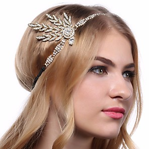 cheap Historical & Vintage Costumes-The Great Gatsby Charleston 1920s The Great Gatsby Roaring 20s Headpiece Flapper Headband Women's Tassel Costume Head Jewelry Black / Golden / White Vintage Cosplay / Headwear / Headwear