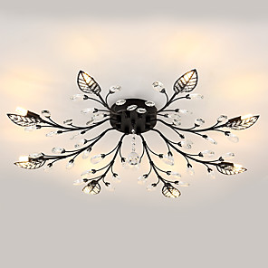 cheap Dimmable Ceiling Lights-JLYLITE 8-Light 80 cm Mini Style Flush Mount Lights Metal Electroplated Contemporary / Artistic 110-120V / 220-240V / G9