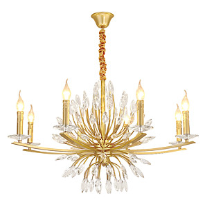 cheap Candle-Style Design-ZHISHU 8-Light 88 cm Creative Chandelier Metal Novelty Painted Finishes Artistic 110-120V / 220-240V