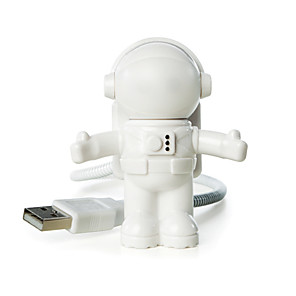 cheap Décor & Night Lights-YWXLight® USB LED Adjustable Night Light Cool New Astronaut Spaceman For Computer PC Lamp Desk Light Pure White