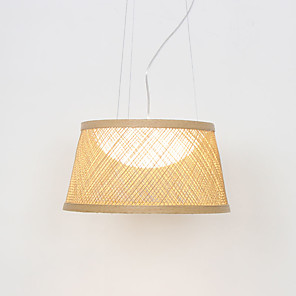 cheap Quartz Watches-LED 10W Rattan Pendant Light Natural Style for Dinning Room Resturant  Dia40cm