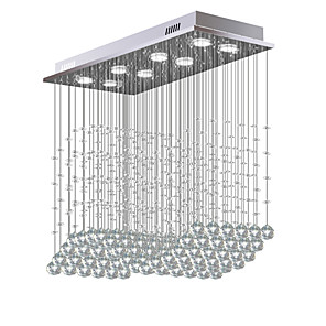 cheap Ceiling Lights-8-Light 30 cm Crystal / Bulb Included / Designers Chandelier Metal Crystal Electroplated Chic & Modern 110-120V / 220-240V / GU10