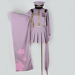 povoljno Anime kostimi-Inspirirana Vocaloid Hatsune Miku Anime Cosplay nošnje Japanski Cosplay Suits Posebni dizajni Top Suknja More Accessories Za Muškarci Žene / Kapa / Kostim / Kapa / Kostim