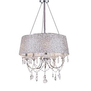 "cheap Pendant Lights-QINGMING® 5-Light 50(20"") Crystal Chandelier Metal Electroplated Modern Contemporary 110-120V / 220-240V"