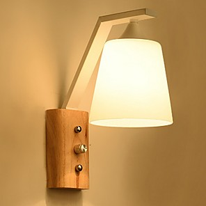 cheap Indoor Wall Lights-Cool Modern Contemporary Wall Lamps & Sconces Bedroom Wood / Bamboo Wall Light 220-240V 40 W
