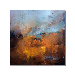 cheap Abstract Paintings-STYLEDECOR® Modern Hand Painted Abstract Brown Decorative Oil Painting On Canvas With Stretched Canvas