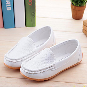 cheap Kids' Loafers-Boys' / Girls' Comfort / Children's Day PU Loafers & Slip-Ons Toddler(9m-4ys) / Little Kids(4-7ys) / Big Kids(7years +) White / Black / Yellow Spring &  Fall