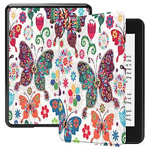 cheap Sleeves,Cases & Covers-Case For Amazon Kindle Lite(2019) / Kindle PaperWhite 4 2018 Shockproof / with Stand / Ultra-thin Full Body Cases Butterfly Hard PU Leather