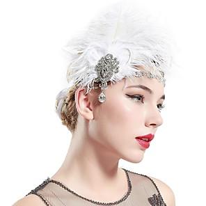 cheap Historical & Vintage Costumes-The Great Gatsby Charleston Vintage 1920s The Great Gatsby Headpiece Flapper Headband Women's Tassel Costume Head Jewelry White Vintage Cosplay / Headwear / Headwear
