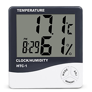 cheap Electrical & Tools-HTC-1 LCD Digital Thermometer Hygrometer Indoor Electronic Humidity Monitor