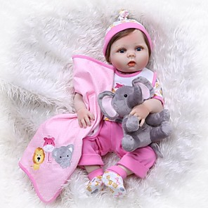 cheap Reborn Doll-NPKCOLLECTION 24 inch NPK DOLL Reborn Doll Girl Doll Baby Girl Reborn Toddler Doll Newborn lifelike Artificial Implantation Blue Eyes Full Body Silicone with Clothes and Accessories for Girls