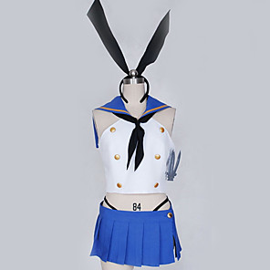 cheap Anime Costumes-Inspired by Kantai Collection Cosplay Anime Cosplay Costumes Japanese Cosplay Suits Contemporary Cravat Top Skirt For Men's Women's / Gloves / Leg Warmers / More Accessories / Hair Band / Gloves