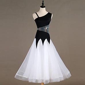 voordelige Ballroom danskleding-Ballroomdansen Kleding Combinatie Kristallen / Bergkristallen Dames Prestatie Mouwloos Spandex