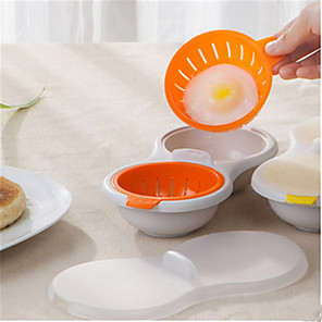 cheap novelty kitchen tools-Microwave Egg Poacher Cookware Double Cup Dual Cave Egg Cooker Egg Poaching Cups