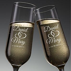 رخيصةأون أطقم الأعراس-زجاج / ألياف الخيزران شرب نخب المزامير مربع هدية كوب / الزفاف كل الفصول