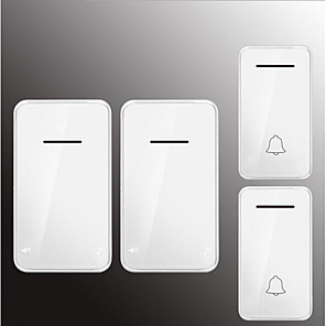 cheap Doorbell Systems-Factory OEM Wireless Two to Two Doorbell Music / Ding dong Non-visual doorbell Surface Mounted