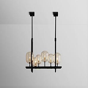 cheap Pendant Lights-ZHISHU 6-Light 60 cm Creative / New Design Chandelier Metal Glass Geometrical / Novelty Painted Finishes Nature Inspired / Retro 110-120V / 220-240V