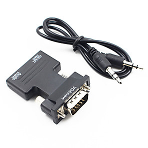 cheap DVI Cables & Adapters-HDMI 1.4 Adapter HDMI 1.4 Input to VGA 3.5mm Audio Output Adapter