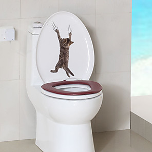 cheap Wall Stickers-Toilet Stickers - Animal Wall Stickers Animals Living Room / Bedroom / Bathroom