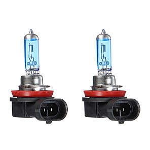 cheap Car Headlights-Pair DC12V White 6000K 100W 3600LM H1 H4 H7 H11 Car Halogen Headlights HOD Bulbs Lamps