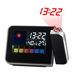 cheap Abstract Paintings-Digital LCD Screen Weather Station Forecast Calendar Projector Snooze Alarm Clock
