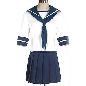 cheap Anime Costumes-Inspired by Kantai Collection Cosplay Anime Cosplay Costumes Japanese Cosplay Suits British Top Skirt Costume For Men's Women's