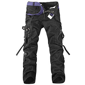cheap Radio-Men's Hiking Pants Hiking Cargo Pants Tactical Pants Outdoor Windproof Durable Wear Resistance Multi Pocket Cotton Pants / Trousers Bottoms Camping / Hiking Hunting Climbing Black Army Green Grey M