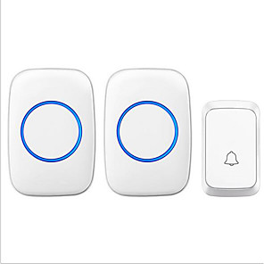 cheap Doorbell Systems-Smart wireless home one for two waterproof doorbells(Battery version)