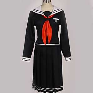 cheap Anime Costumes-Inspired by Danganronpa Toko Fukawa Anime Cosplay Costumes Japanese Cosplay Suits British Contemporary Cravat Top Skirt For Men's Women's