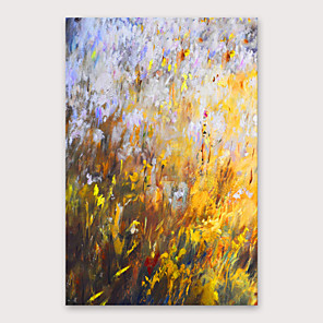 cheap Floral/Botanical Paintings-Oil Painting Hand Painted - Abstract Modern Stretched Canvas