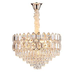 cheap Pendant Lights-13 Bulbs QIHengZhaoMing 60 cm Chandelier Crystal Electroplated Traditional / Classic 110-120V / 220-240V