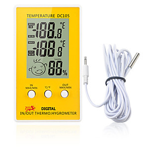 cheap Test, Measure & Inspection Equipment-DC105 LCD Digital Thermometer Hygrometer Weather Station Household Indoor
