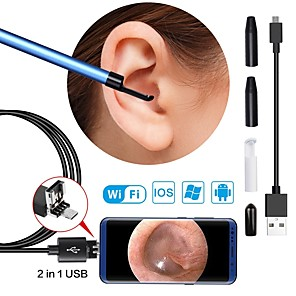 cheap Test, Measure & Inspection Equipment-Wireless WiFi Endoscope Inspection Camera 5.5mm Lens Visual Ear Otoscope USB Borescope for Android IOS PC