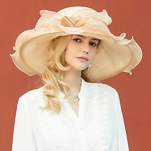 cheap Party Hats-Organza Kentucky Derby Hat / Hats with Bowknot 1pc Wedding / Party / Evening Headpiece