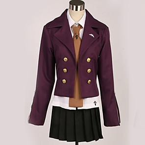 cheap Anime Costumes-Inspired by Danganronpa Kyoko Kirigiri Anime Cosplay Costumes Japanese Cosplay Suits British Contemporary Coat Blouse Top For Men's Women's / Skirt / Gloves / Tie / Skirt / Gloves