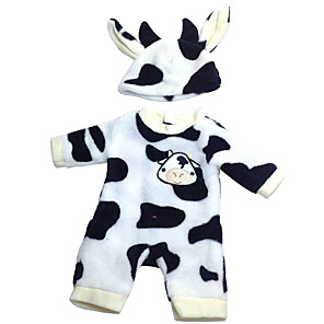 cheap Reborn Doll-Doll accessories Reborn Doll Reborn Toddler Doll Cow Baby Boy Baby Girl Cute Kids / Teen Cloth Kids Baby Unisex Toy Gift 2 pcs