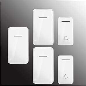 cheap Doorbell Systems-Factory OEM Wireless Two to Three Doorbell Music / Ding dong Non-visual doorbell Surface Mounted