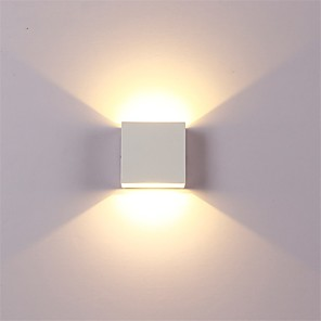 cheap Indoor Wall Lights-12W LED Aluminium Wall Light Rail Project Square Outdoor Waterproof Wall lamp Bedside Room Bedroom Arts
