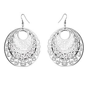 cheap Earrings-Women's Drop Earrings Hollow Out Flower Vintage Hyperbole Earrings Jewelry Gold / Silver / Gray For Date Street 1 Pair