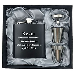cheap Wedding Gifts-Personalized Stainless steel Barware & Flasks Her / Him / Bride Wedding Party / Festival
