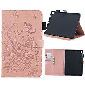 cheap iPad case-Case For Apple iPad Air / iPad 4/3/2 / iPad Mini 3/2/1 Wallet / Card Holder / with Stand Full Body Cases Butterfly Hard PU Leather / iPad (2017)
