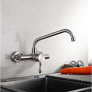 cheap Kitchen Faucets-Kitchen faucet - Single Handle Two Holes Standard Spout Contemporary Kitchen Taps
