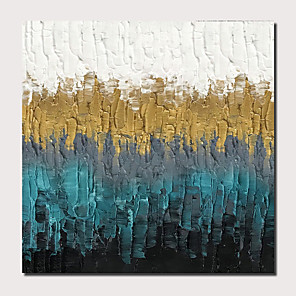 cheap Abstract Paintings-Oil Painting Hand Painted - Abstract Landscape Comtemporary Modern Stretched Canvas