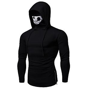 cheap Fitness Gear & Accessories-Men's Daily Hoodie Jacket Solid Colored Hooded Hoodies Sweatshirts  Long Sleeve Slim Black Gray