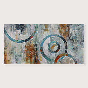 cheap Landscape Paintings-Oil Painting Hand Painted - Abstract Modern Rolled Canvas