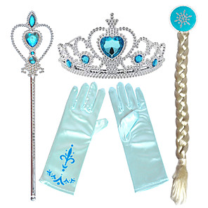 cheap Movie & TV Theme Costumes-Tiaras Forehead Crown Magic stick Halloween New Year's Resin PP For Princess Elsa Anna Cosplay Girls' Costume Jewelry Fashion Jewelry / Gloves / Headwear / Gloves / Headwear / Wand