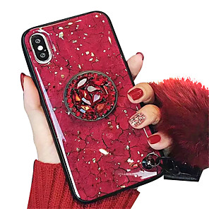 cheap iPhone Cases-Case For Apple iPhone XS / iPhone XR / iPhone XS Max with Stand / IMD / Pattern Back Cover Marble Soft TPU