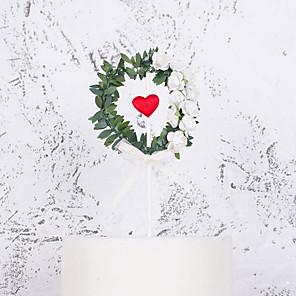 povoljno Pokloni za vjenčanje-Figure za torte Klasični Tema / Odmor / Vjenčanje Umjetnička / Retro / Jedinstven dizajn Čisti papir Vjenčanje / Rođendan s Biser / Isprepleteni dijelovi 1 pcs OPP